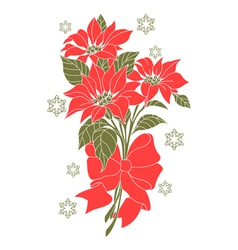 Flower of christmas night vector image vector image