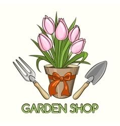 Garden Shop Emblem vector image
