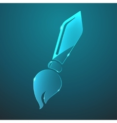 glass brush icon vector image vector image