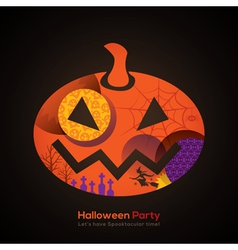 Halloween Party Pumpkin vector image vector image