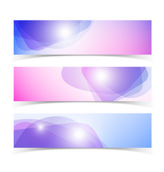 abstract horizontal banners set vector image