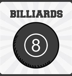 billiards sport vector image vector image