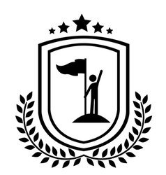 Championship design vector image vector image
