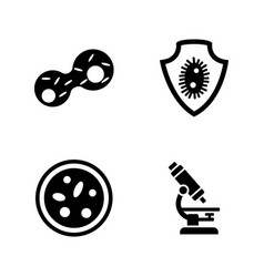 genetics lab research simple related icons vector image vector image