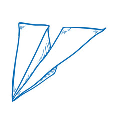 paper airplane draw vector image vector image