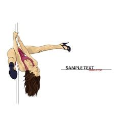 Pole dance vector