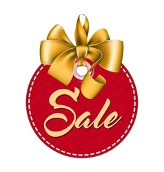 Red tag sale vector image vector image