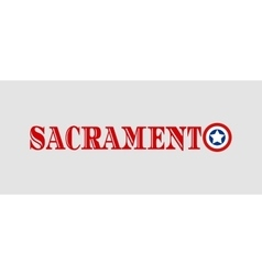 Sacramento city name with flag colors vector image vector image