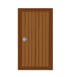Wooden gates in soft brown cartoon vector
