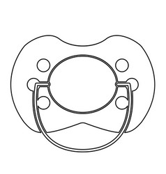 baby pacifier the black color icon vector image