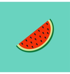 Big watermelon slice cut seed Flat design icon vector image
