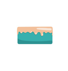 cake icon flat vector image vector image