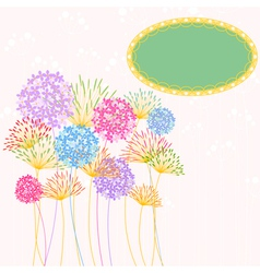 Colorful Hydrangea Flower Garden Party vector image