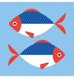 Fish flat style vector