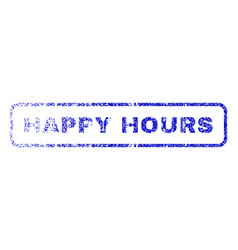 happy hours rubber stamp vector image