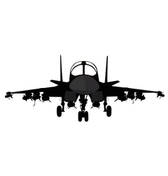 Military aircraft vector image vector image