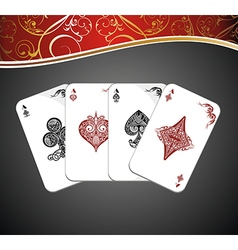 Poker playing cards vector image