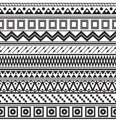 Tribal striped seamless pattern vector image