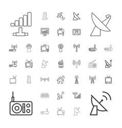 37 antenna icons vector