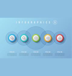 5 options infographic design presentation vector image