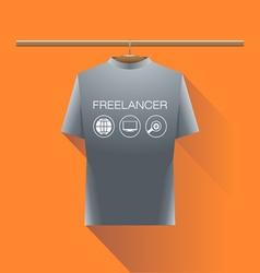 Abstract freelancer silver shirt vector