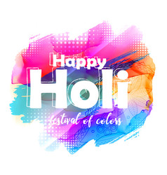 Abstract happy holi greeting background vector
