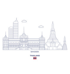 Bangkok city skyline vector