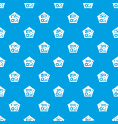 Banjo pattern seamless blue vector