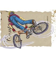 Bicycle boy vector