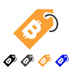 bitcoin tag icon vector image