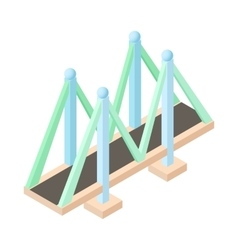 Bridge for cars icon cartoon style vector