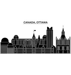 Canada ottawa architecture city skyline vector