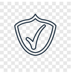 checked pin concept linear icon isolated on vector image