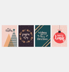 christmas cards design vector image