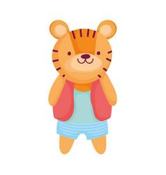 cute tiger child animal cartoon character vector image