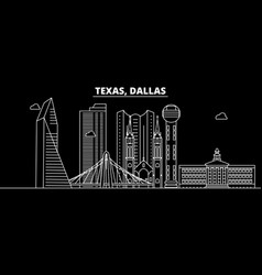 dallas silhouette skyline usa - dallas vector image