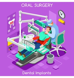 Dental Implants Isometric People vector