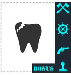 dental problem icon flat vector image