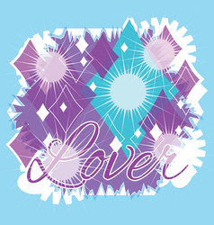 Diamond lover abstract graphic design vector