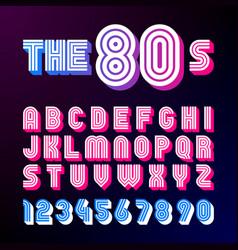 Eighties style retro font vector