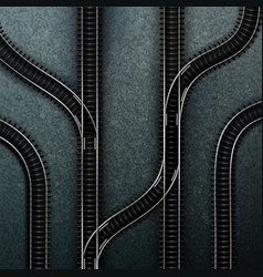 empty railway tracks vector image