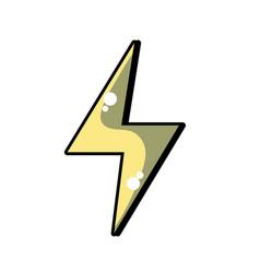 energy hazard symbol design image vector image