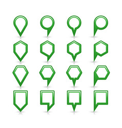 Flat green color map pin sign location icon vector