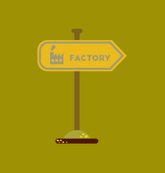 Flat icon on background sign factory vector