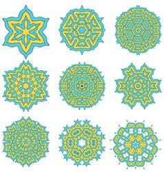 Geometrical flower mehendi mandala vector