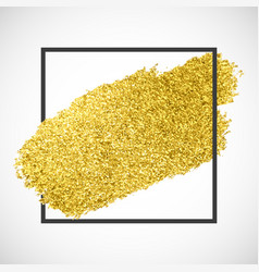Gold sparkle streak on a black frame vector
