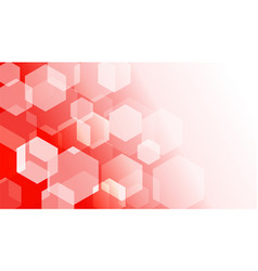 hexagon box on red gradient abstract background vector image