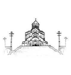 holy trinity cathedral vector image