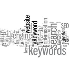 how to find the best keywords vector image