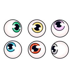 Human eyeballs set vector